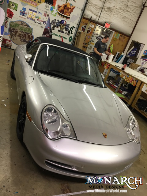 Porsche Color Change Wrap Before