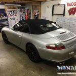 Porsche Color Change Wrap Before