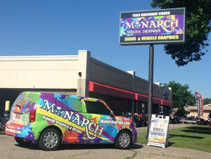 Monarch Vehicle Wrap Sign