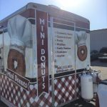 Mini Donut Trailer Wrap Food Cart