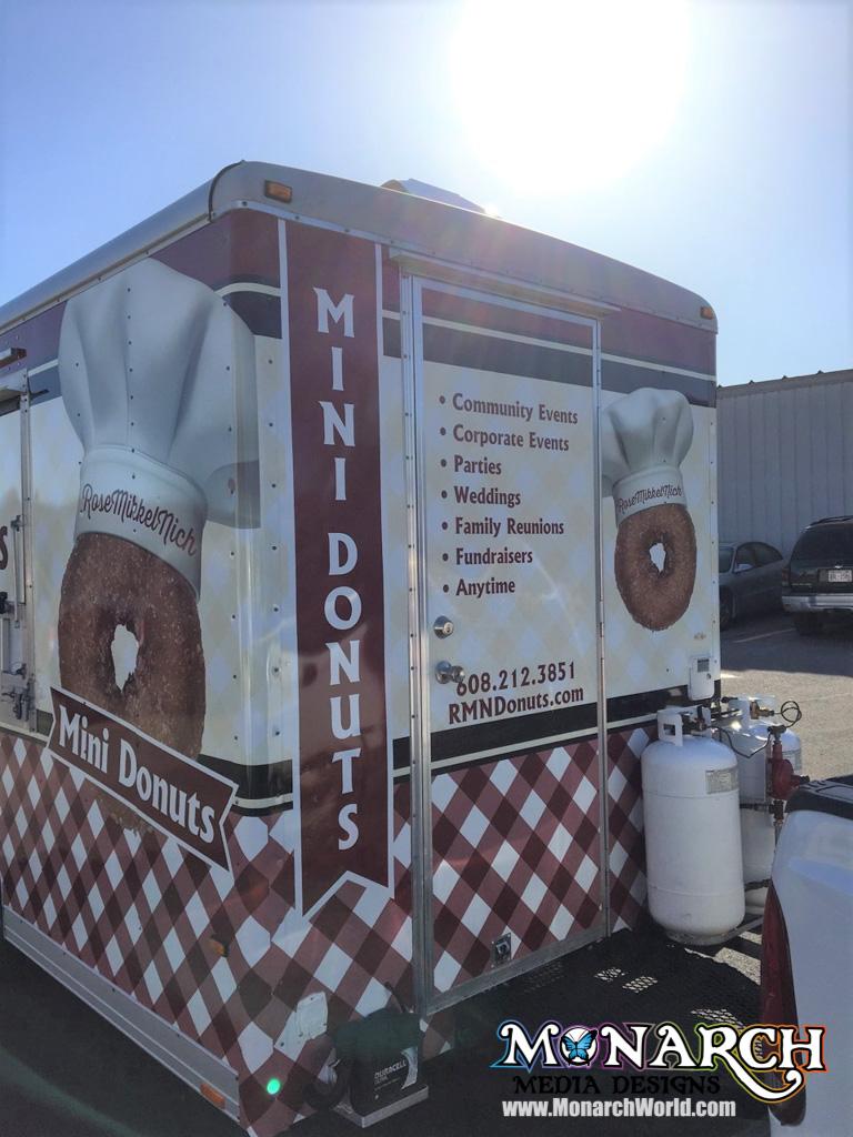 Mini Donuts Food Cart Trailer Wrap ⋆ Monarch Media