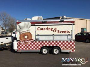 Mini Donut Trailer Wrap Food Cart