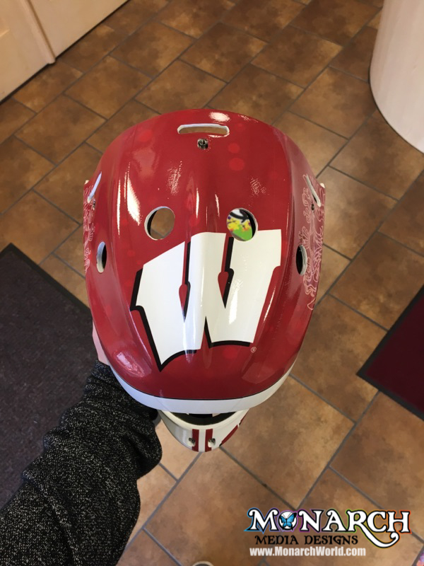 Uw Badgers Women Hockey Mask Wraps