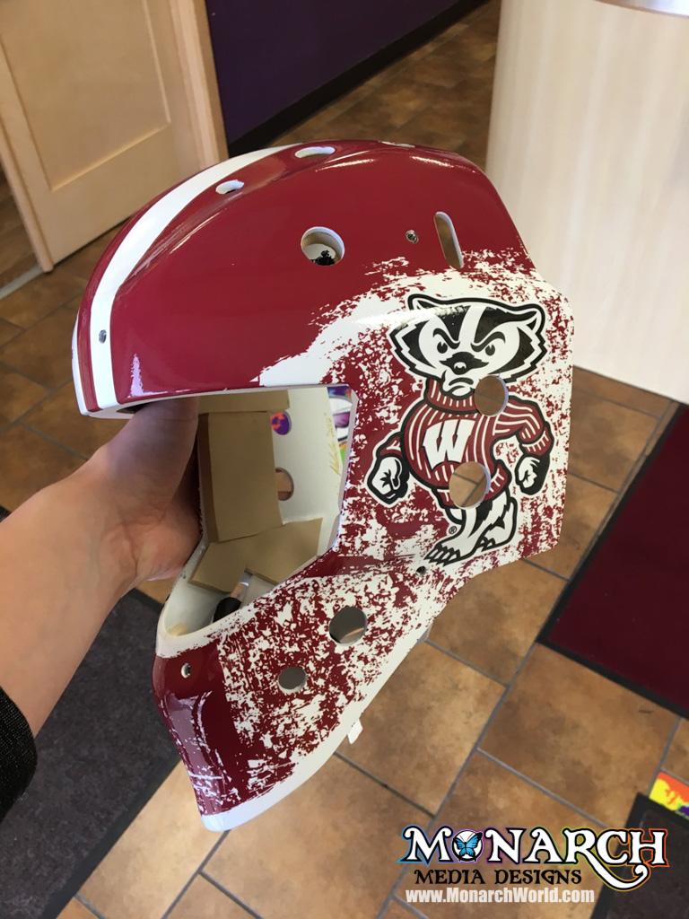 Uw Badgers Women Hockey Mask Wraps