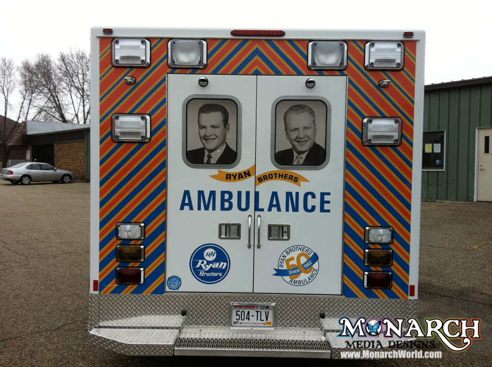 Monarch Ambulance Graphic Wrap