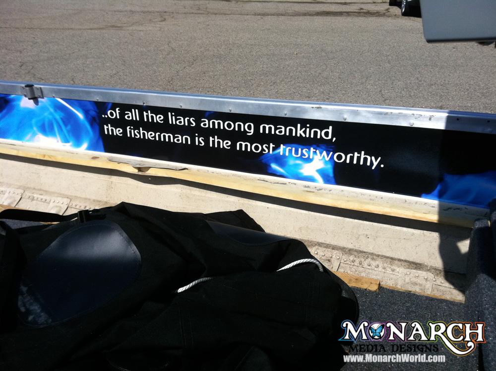 Monarch Boat Graphic Wrap Madison