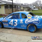 Monarch Racecar Graphic Lettering Wrap