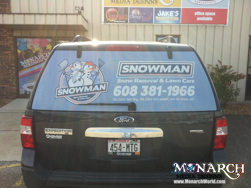 Vehicle Perforated Window Graphics