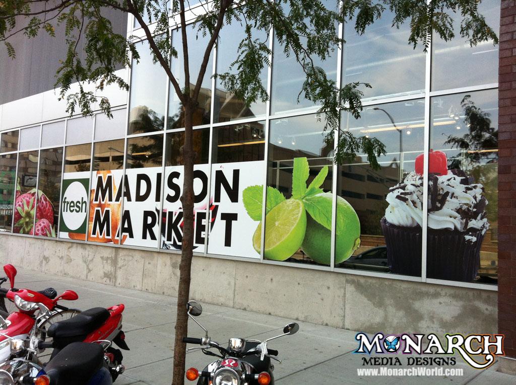 Window Graphic Mural Wrap Madison