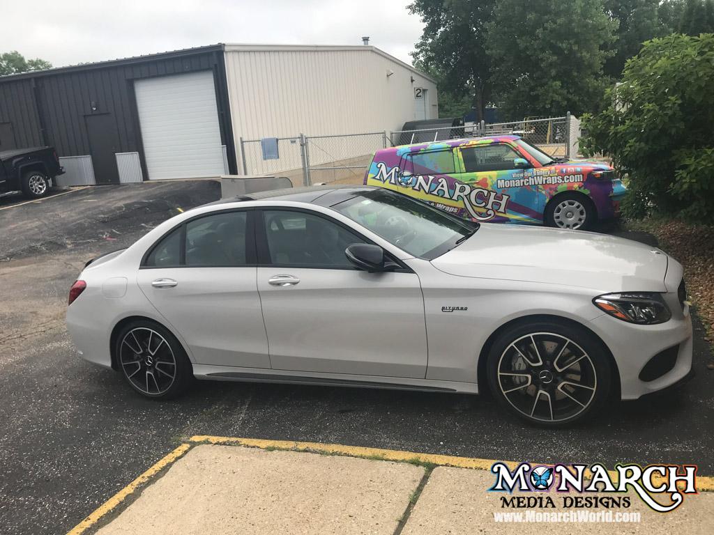 Mercedes Color Change Wrap Gloss Storm Grey
