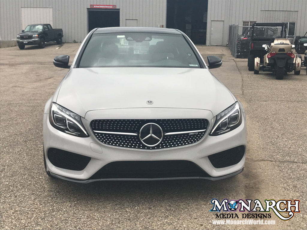 Mercedes Color Change To 3m Gloss Storm Grey ⋆ Monarch