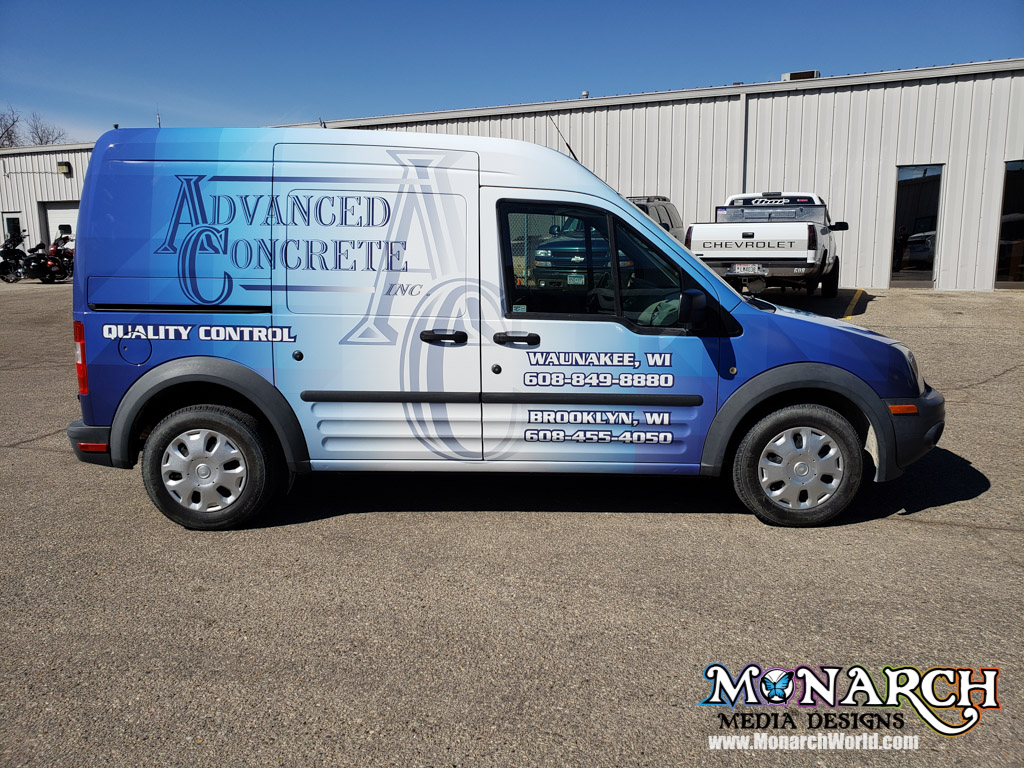 Advanced Concrete Truck Full Wrap