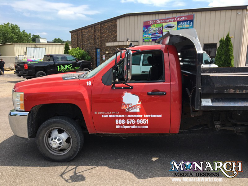 Alts Red Truck Color Vinyl Graphics