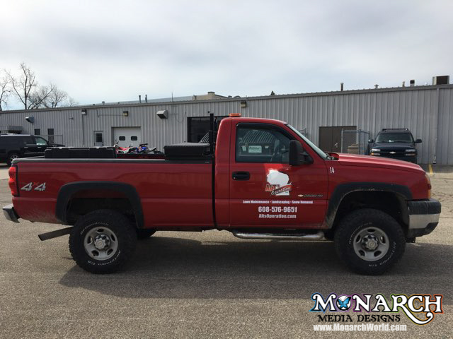 Alts Tree Service Red Truck Graphics