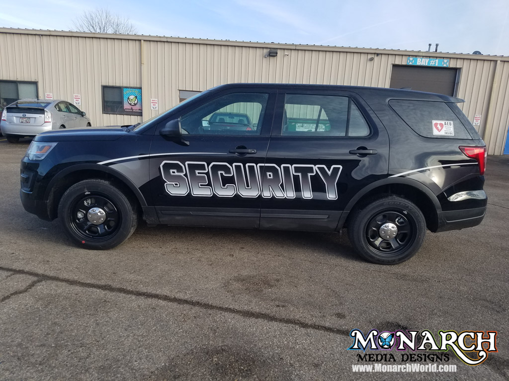 Amfam Security Reflective Vehicle Graphics