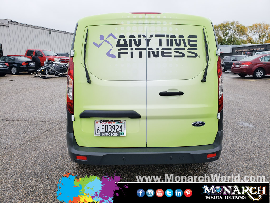 Anytime Fitness Van Partial Wrap