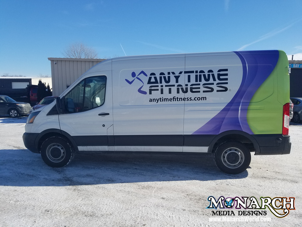 Anytime Fitness Van Wrap Partial