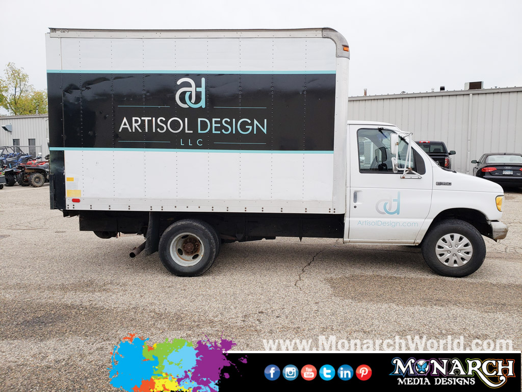Artisol Design Box Truck Partial Wrap