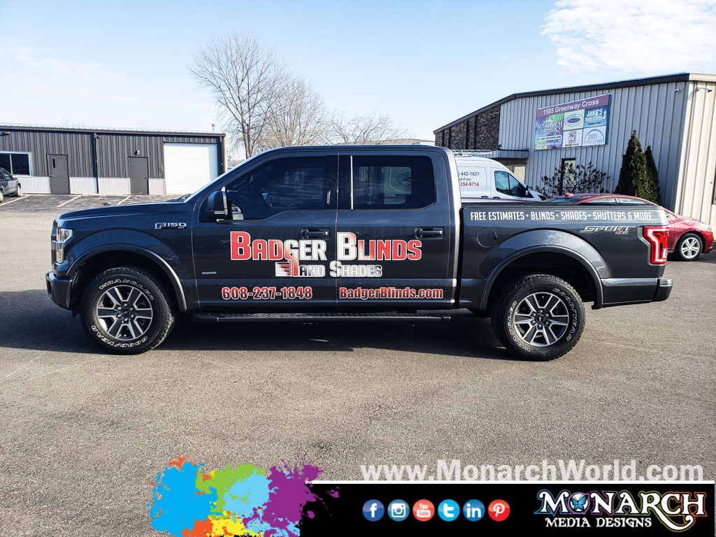 Badger Blinds Shades Vinyl Truck Graphics
