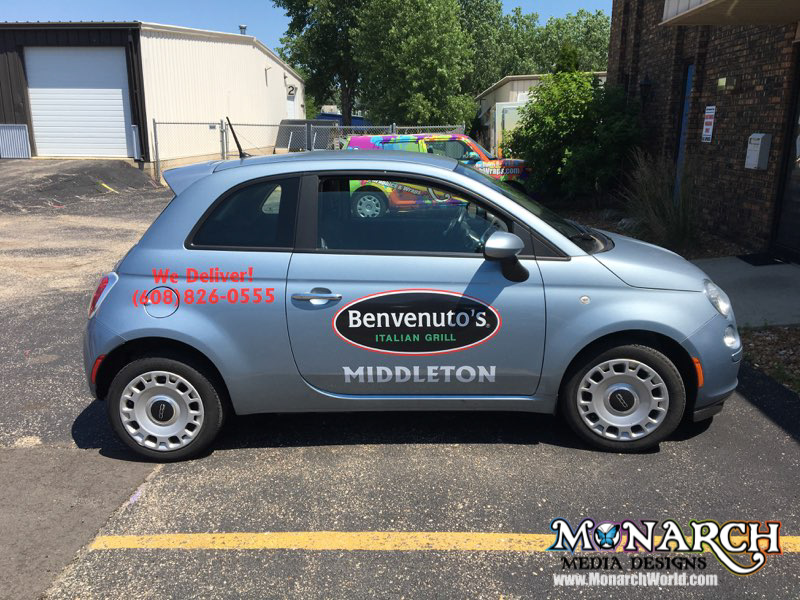 Benvenutos Fiat Full Color Vinyl Graphics Madison