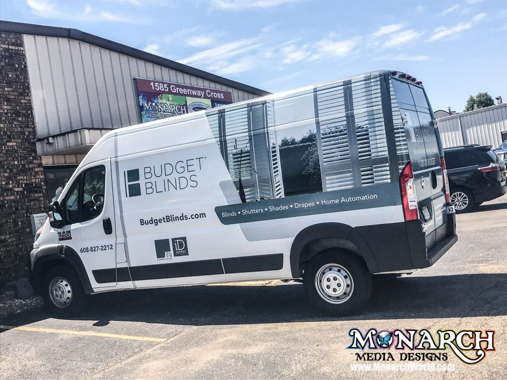 Budget Blinds Madison Partial Sprinter Wrap Installation