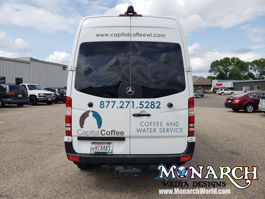 Capital Coffee Sprinter Vinyl Graphics