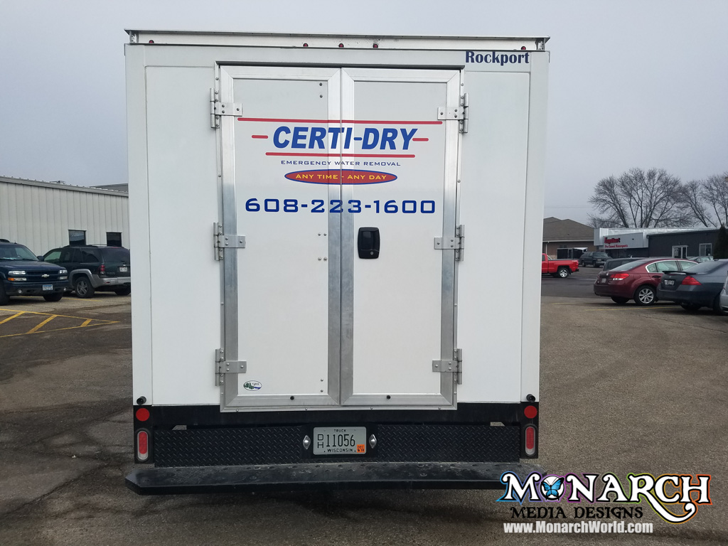 Certidry Cut Vinyl Box Truck Graphics