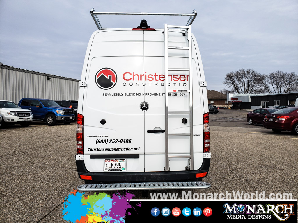 Christensen Construction Van Vinyl Graphics