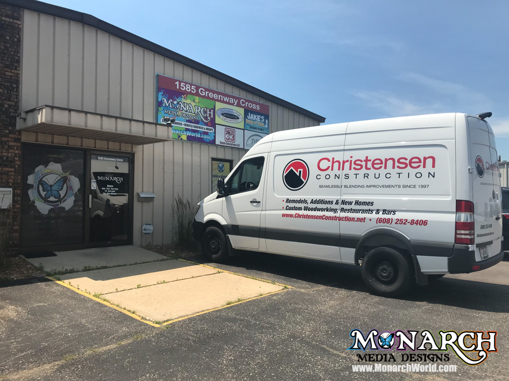 Christensen Construction Vinyl Graphics Van