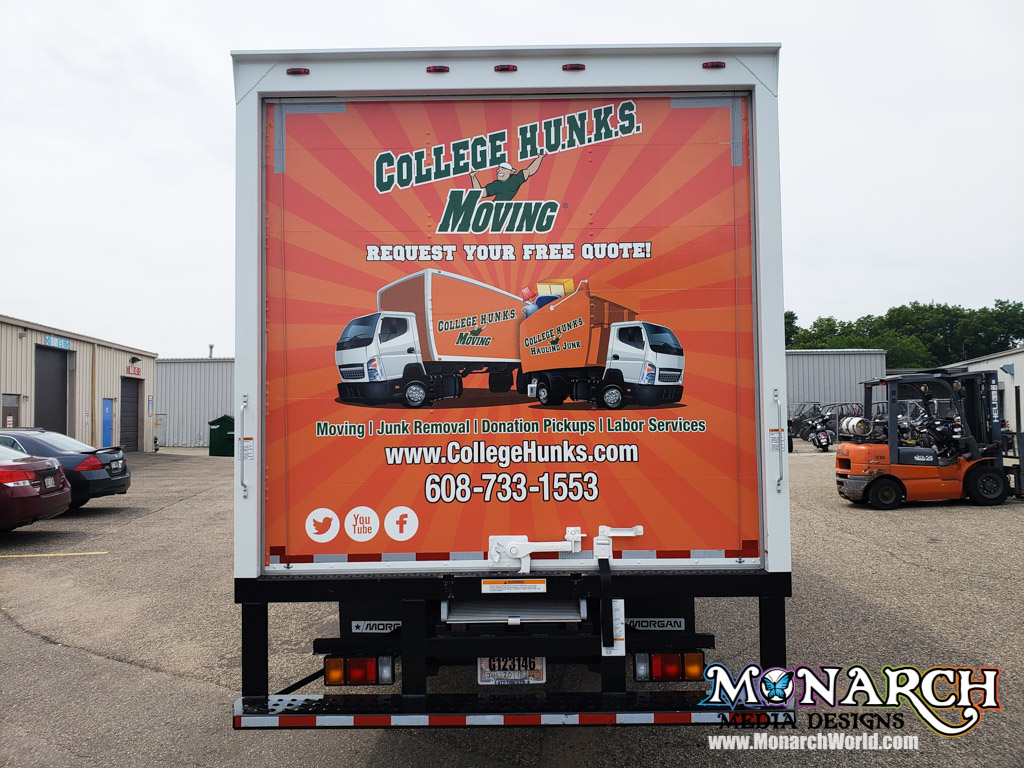 College Hunks Box Truck Wrap Madison