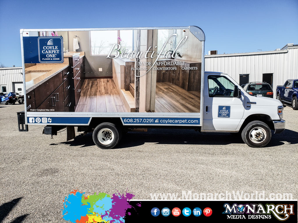 Coyle Carpet Box Truck Wrap