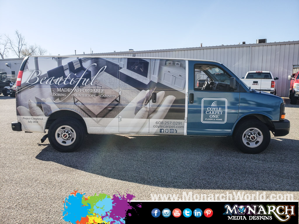 Coyle Carpet Full Van Wrap