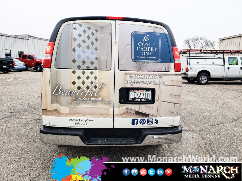 Coyle Carpet One Van Wrap