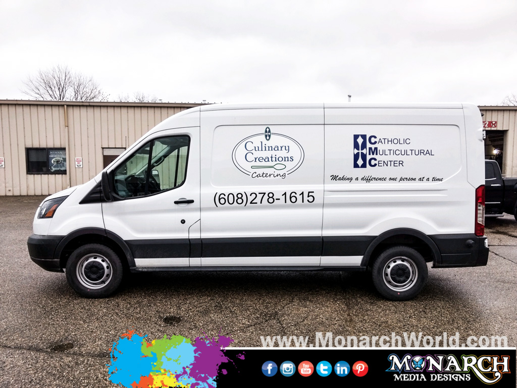 Culinary Creations Vinyl Van Graphics