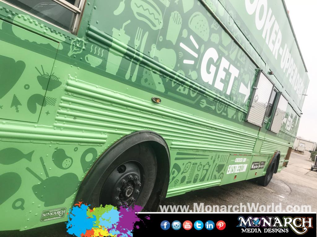 Eat Street Double Decker Bus Wrap