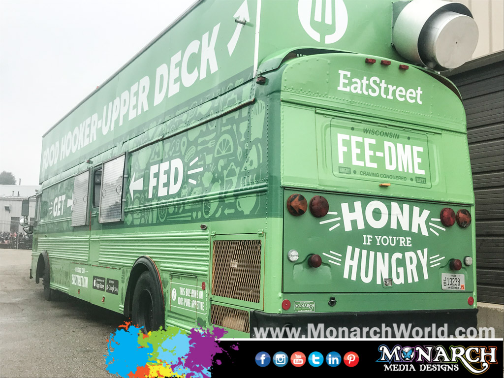 Eat Street Double Decker Bus Wrap