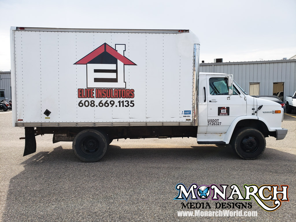 Elite Insulators Box Truck Vinyl Graphics