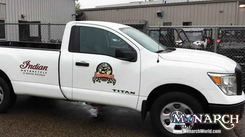 Engelhart Service Truck Vinyl Graphics Color Logos