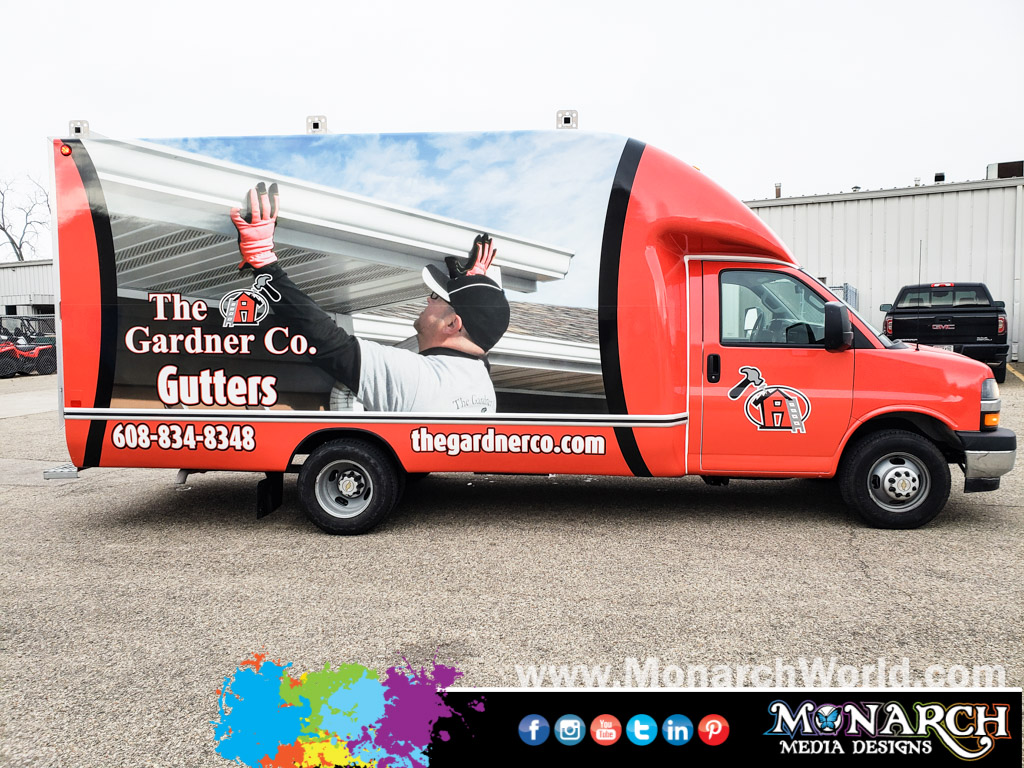 Gardner Company Box Truck Wrap Cab