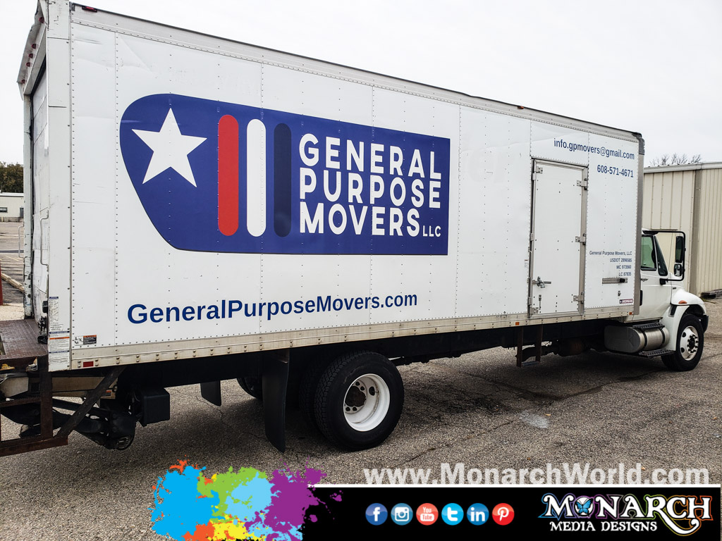 General Purpose Movers Box Truck Graphics