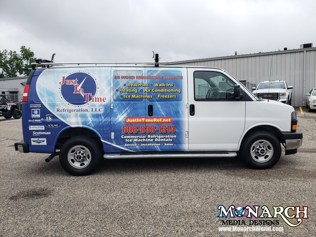 Just In Time Partial Van Wrap Madison