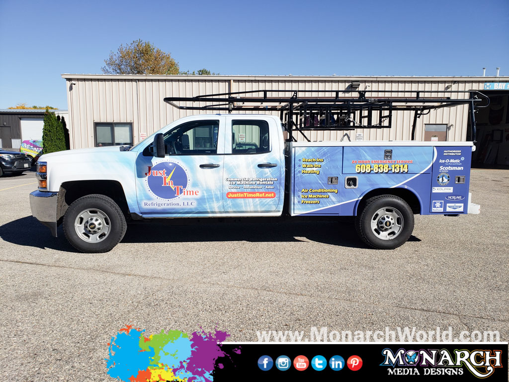Just In Time Service Truck Partial Wrap
