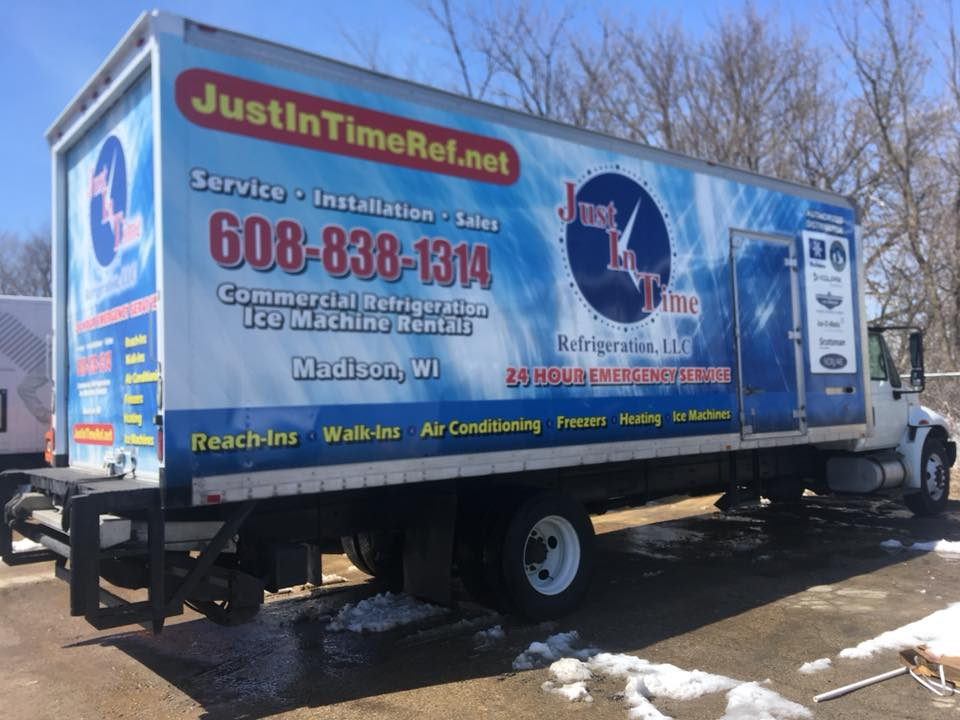 Justintime Refrig Box Truck Wrap Madison