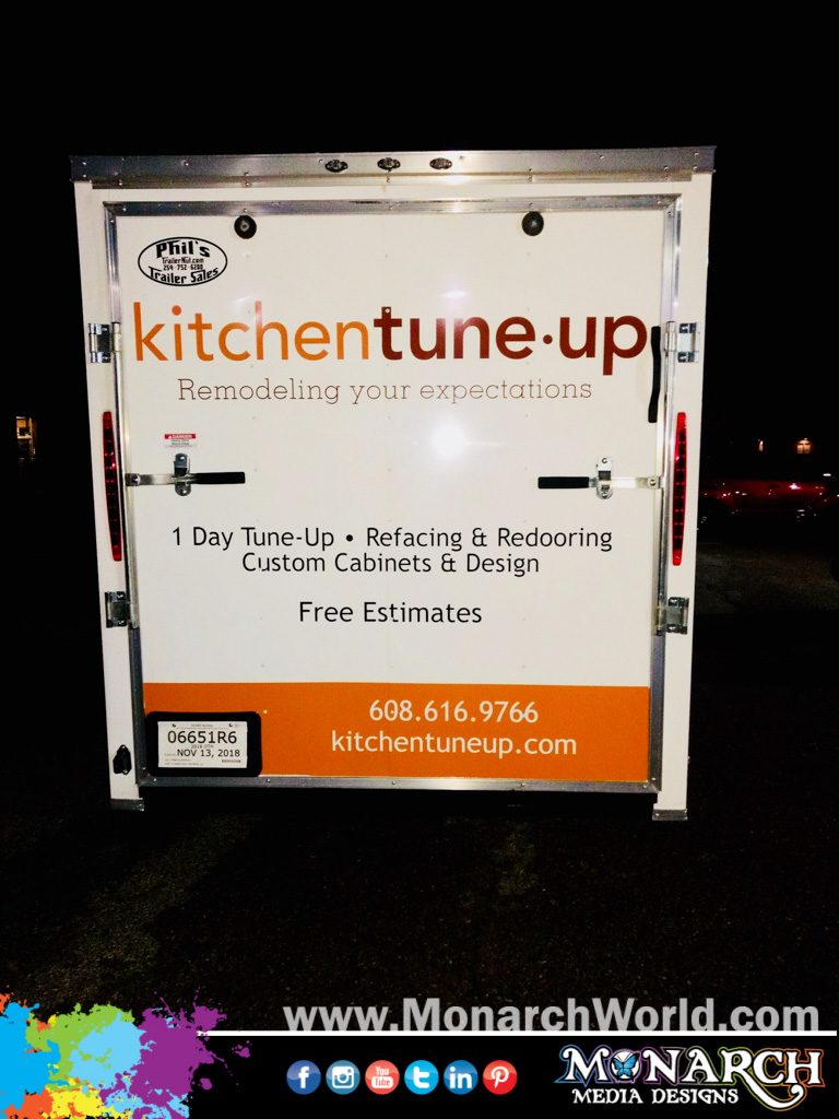 Kitchen Tune Up Trailer Graphics