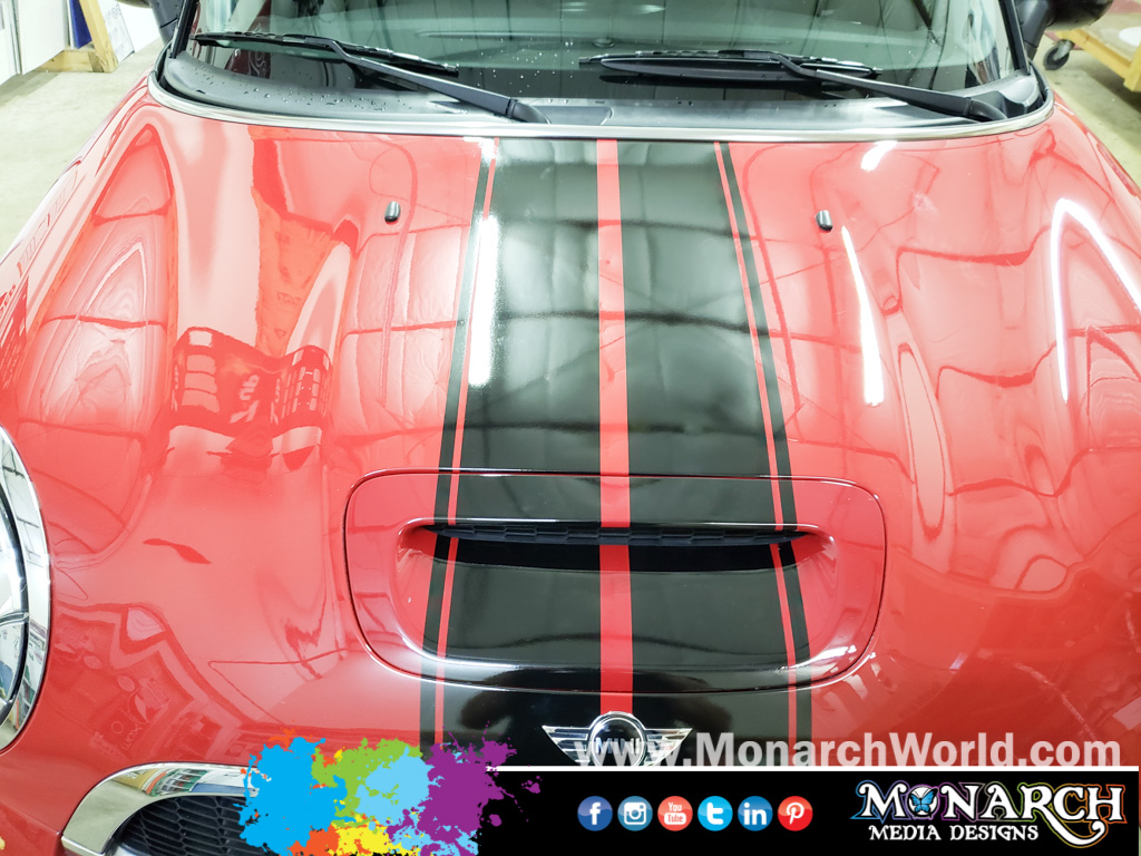 Mini Cooper Hood Stripe