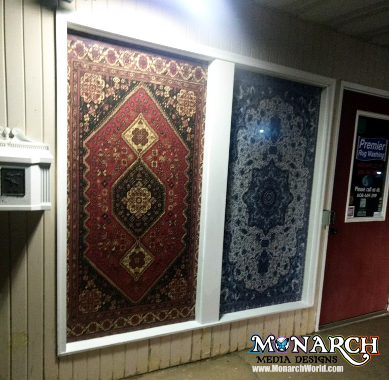 Premier Rug Window Wrap Graphics
