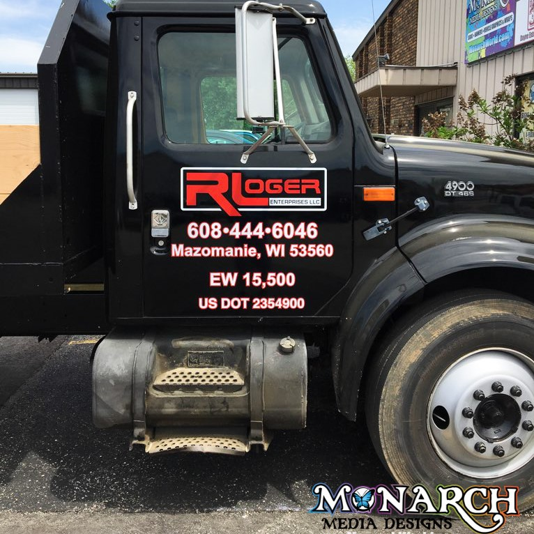 R Loger Truck Vinyl Graphics