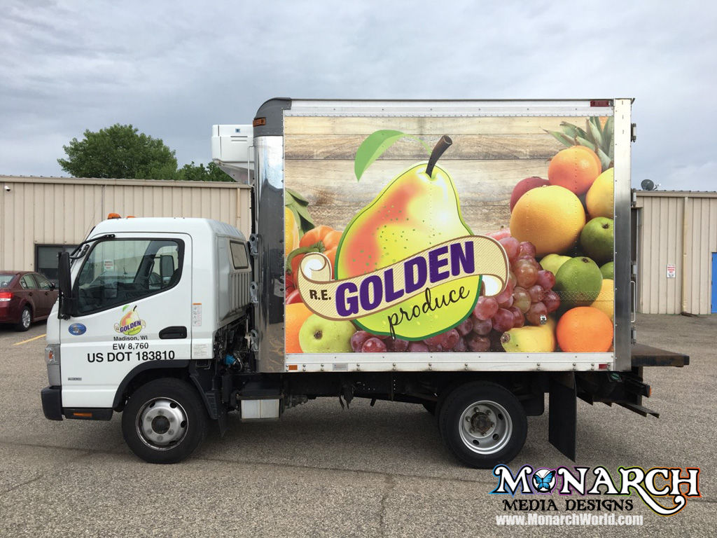 Re Golden Produce Box Truck Wrap