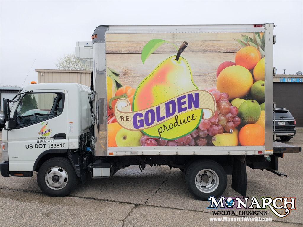Re Golden Produce Box Truck Wrap Madison Wi