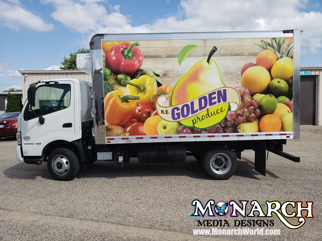 Re Golden Produce Truck Wrap August